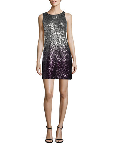 Vince Camuto Ombre Sequined Sheath Dress-PURPLE-2