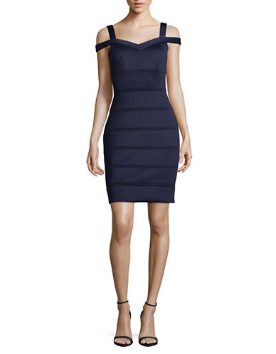 Vince Camuto Cold Shoulder Bandage Dress-BLUE-10