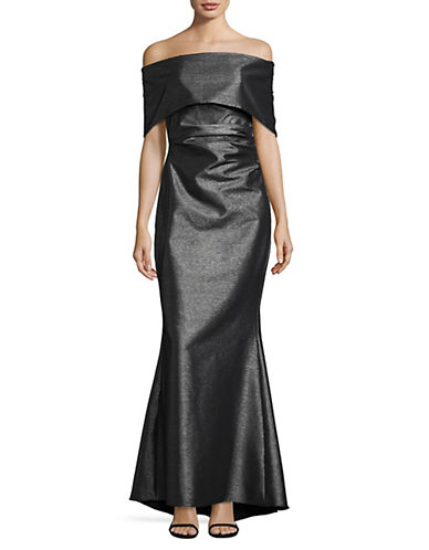 Vince Camuto Off-The-Shoulder Gown-SILVER-8
