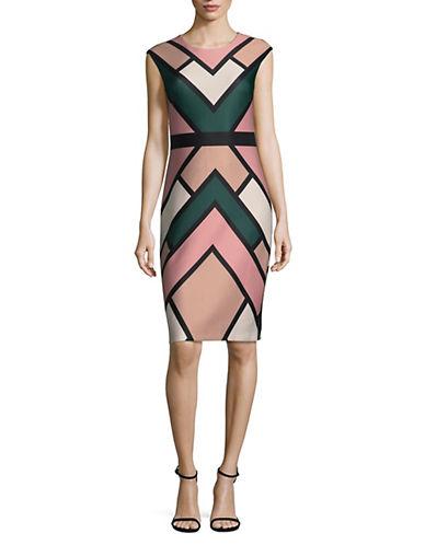 Vince Camuto Colourblock Geometric Dress-ASSORTED-4