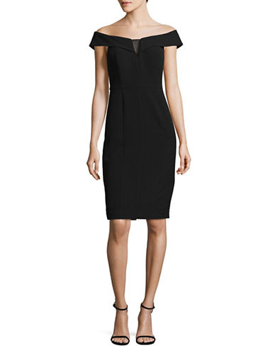 Vince Camuto Elegant Sheath Dress-BLACK-2