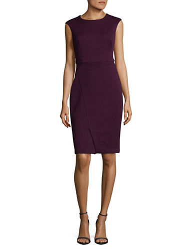 Vince Camuto Jacquard Bodycon Dress-PURPLE-4