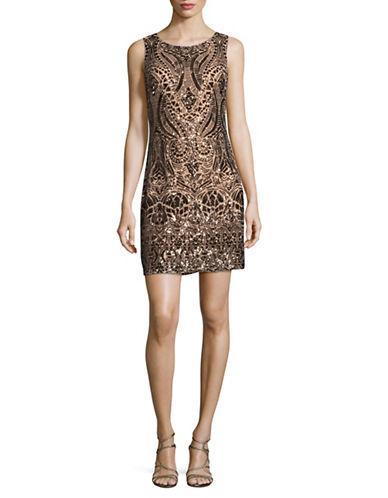 Vince Camuto Sequin Sheath Dress-BRONZE-14