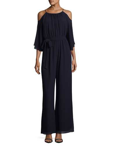 Vince Camuto Cold-Shoulder Jumpsuit-NAVY-12