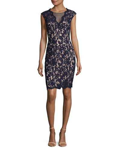 Vince Camuto Lace Bodycon Dress-NAVY-8