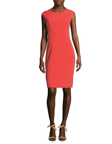 Vince Camuto Seamed Bodycon Dress-PINK-10
