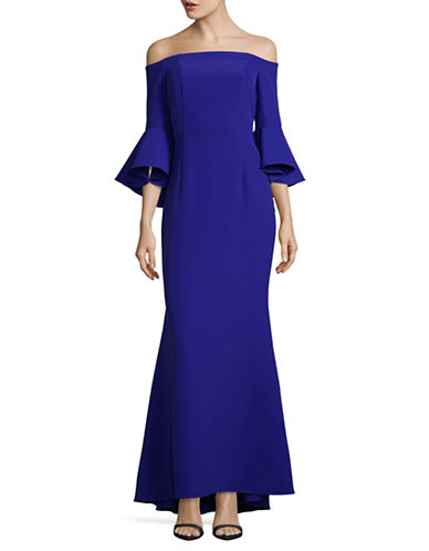 Vince Camuto Off-the-Shoulder Gown-BLUE-12