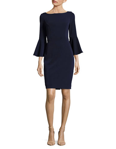 Vince Camuto Bell Sleeve Sheath Dress-BLUE-12
