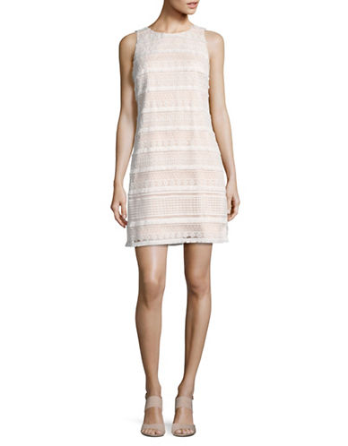 Vince Camuto Lace Shift Dress-WHITE-12