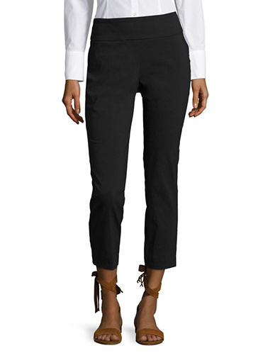 Lord & Taylor Plus Petite Kelly Ankle Pants-BLACK-24W