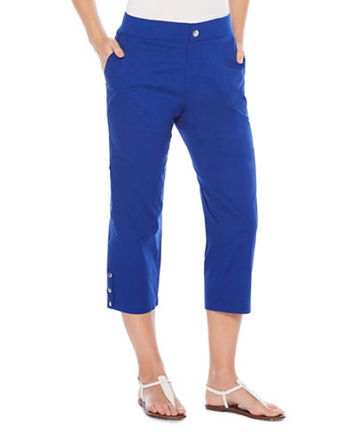Rafaella Plus Pull-On Capri Pants-BLUE-22W