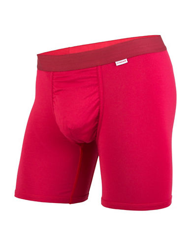 Mypakage Underwear Vibrant Boxer Briefs-RED-Small