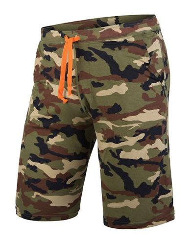Mypakage Underwear Camouflage Sleepwear Shorts-GREEN-Large