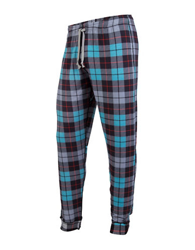 Mypakage Underwear Plaid Pyjama Bottoms-BLUE-Small