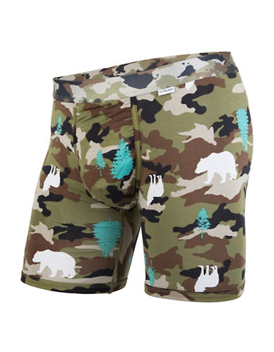 Mypakage Underwear Camouflage Boxer Briefs-GREY-Medium