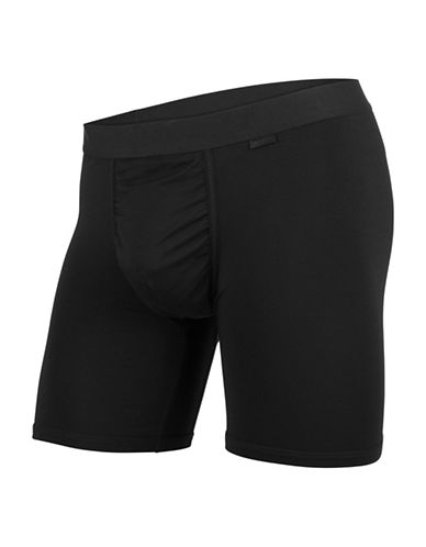 Mypakage Underwear Soft Boxer Briefs-BLACK-Medium