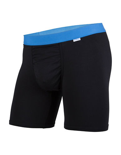 Mypakage Underwear Two-Toned Boxer Briefs-BLACK/BLUE-Small