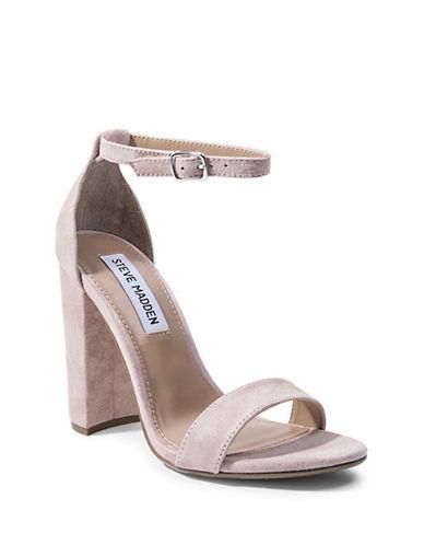 Steve Madden Carrson Suede Heeled Sandals-PINK SUEDE-9