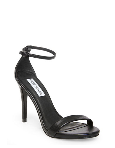 Steve Madden Stecy Leather Sandals-BLACK-9.5