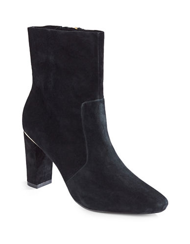 B Brian Atwood Maria Suede Dress Boots-BLACK-5
