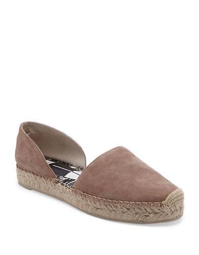 Dolce Vita Ciara Leather Espadrilles-BROWN-8.5