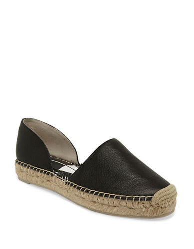 Dolce Vita Ciara Leather Espadrilles-BLACK-6.5