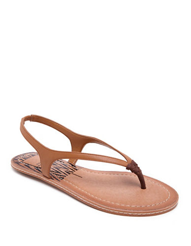 Dolce Vita Kay Thong-Slingback Leather Sandals-CARAMEL-6