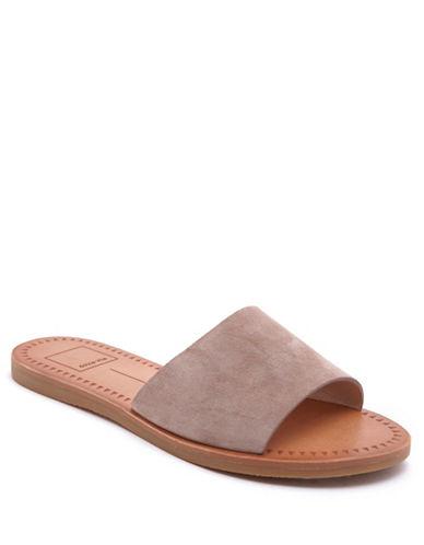 Dolce Vita Javier Suede Slide Sandals-ALMOND-8