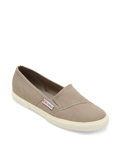 Superga Womens 2210 COTW Slip-Ons-GREY-10.5