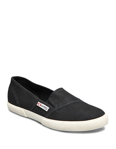 Superga Womens 2210 COTW Slip-Ons-BLACK-6.5