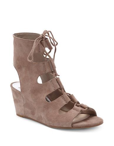Dolce Vita Suede Gladiator Heel Sandals-ALMOND-10