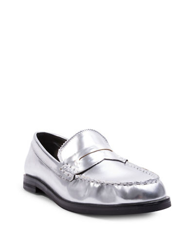 Design Lab Lord & Taylor Penny Loafers-SILVER-6.5