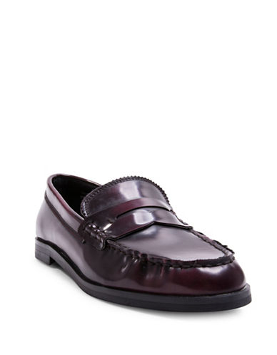 Design Lab Lord & Taylor Penny Loafers-RED-7.5