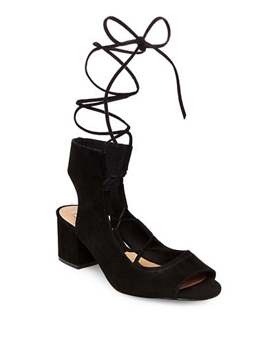 Steve Madden Admire Suede Lace-Up Shoes-BLACK-10