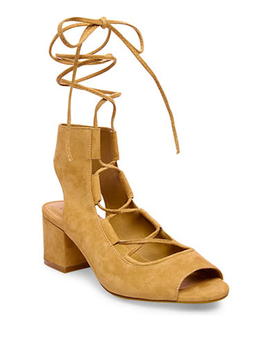 Steve Madden Admire Suede Lace-Up Shoes-SAND-7.5
