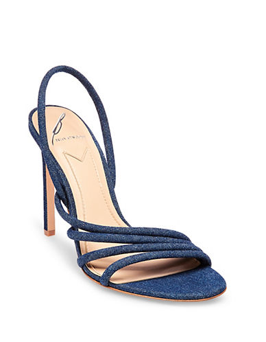 B Brian Atwood Fifi Denim Sandals-DENIM-5.5