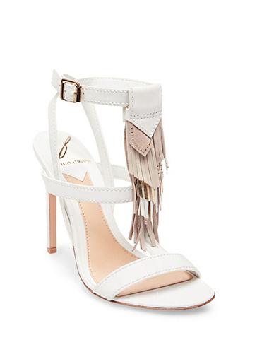 B Brian Atwood Fabia Fringe Sandals-WHITE-9