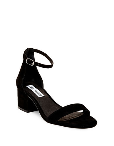 Steve Madden Irenee Suede Dress Sandals-BLACK-9.5