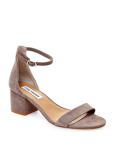 Steve Madden Irenee Suede Dress Sandals-GREY-7.5