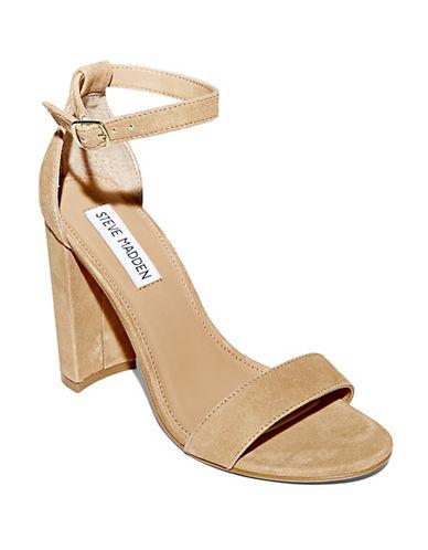 Steve Madden Carrson Suede Sandals-BEIGE-8.5