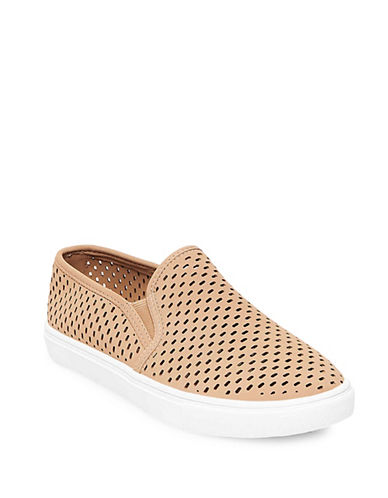 Steve Madden Elouise Perforated Sneakers-TAUPE-8.5