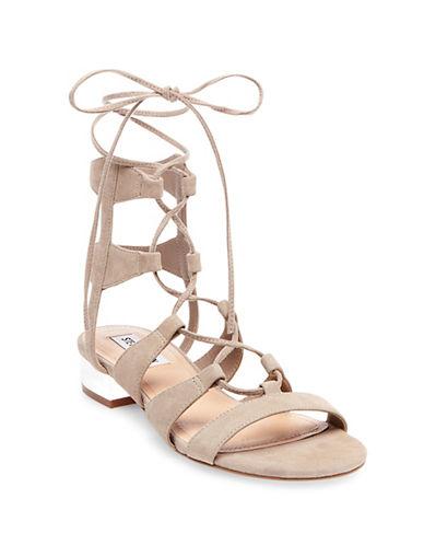Steve Madden Chely Microsuede Sandals-BEIGE-9