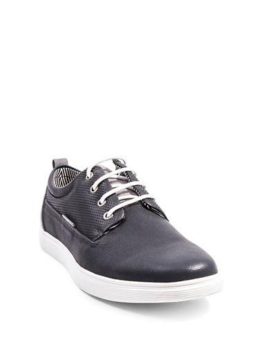 Steve Madden M-Rangle Textured Sneakers-BLACK-12