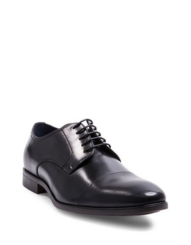 Steve Madden Pasage Faux Leather Oxford Shoes-BLACK-8