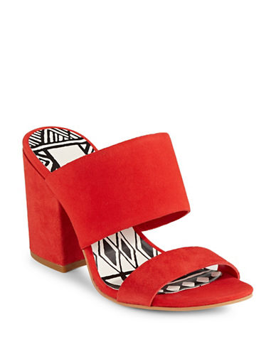 Dolce Vita Elize Suede Mules-RED-8