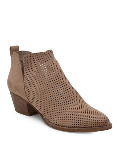 Dolce Vita Sonya Perforated Leather Booties-BEIGE-9.5