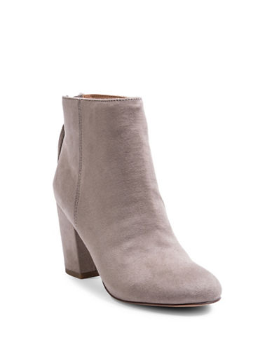 Steve Madden Cyndy Suede Booties-TAUPE-6