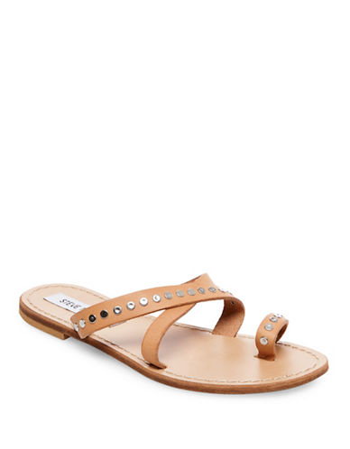 Steve Madden Becky Leather Sandals-TAN-8