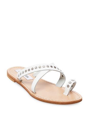 Steve Madden Becky Leather Sandals-WHITE-9