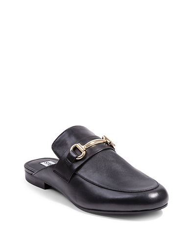 Steve Madden Kandi Loafer Slides-BLACK-6.5